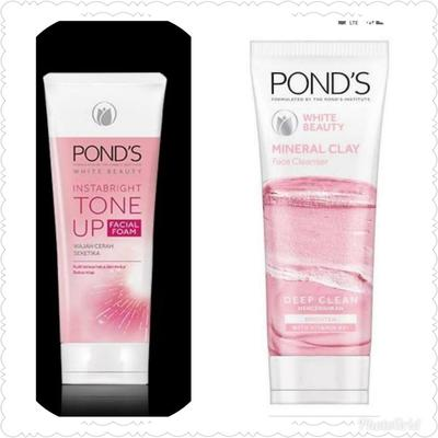 [FORUM] Bagusan Pond's InstaBright Tone Up Facial Foam atau POND'S White Beauty Mineral Clay Foam ?