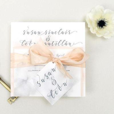 Inspirasi Desain Kartu Undangan Pernikahan Marble 2019 Kekinian!