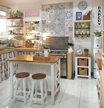 5. Desain Dapur Minimalis Kecil Bergaya Artistik