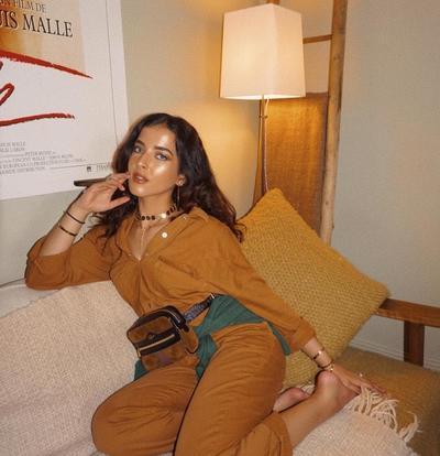Jumpswit Jeans ala Selebgram Cantik Tasya Farasya