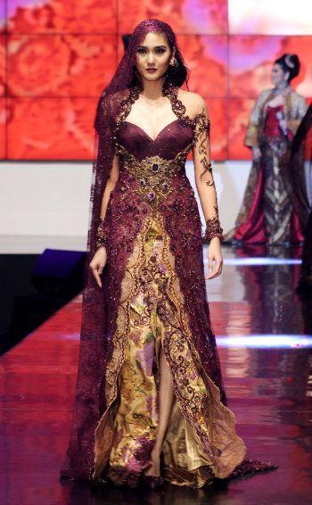 Model Kebaya Brokat Dress Kombinasi Batik