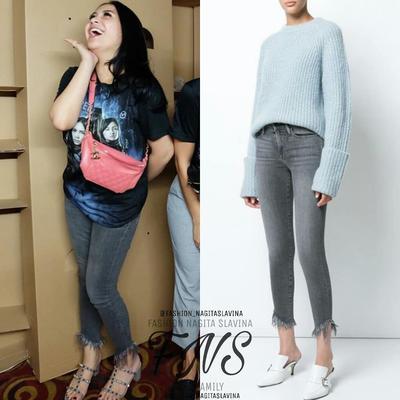 2. Fashionable dengan Shredded Jeans
