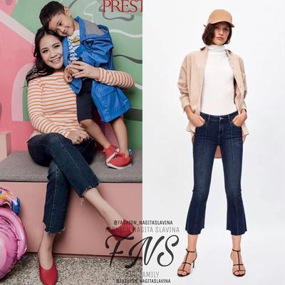 5. Tampil Stylish dengan Flared Jeans