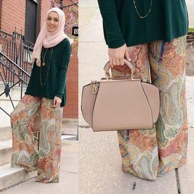 Padu Padan Celana Kulot Batik dan Hijab Ini Cantik Banget dan Seru Buat Dicoba! Intip Yuk Berbagai Stylenya Disini!