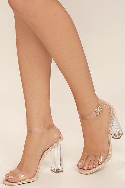 2.Lucite Heels.
