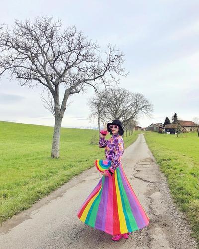 6. Rainbow Skirt