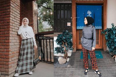 Biar Makin Modis, Ini Tips Mix and Match Plaids Pattern ala Hijabers