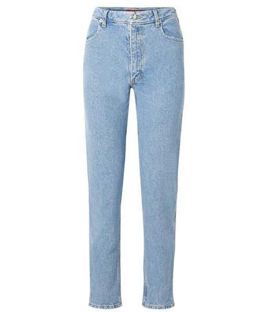 Long, Straight-Leg Jeans