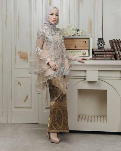 Batik Muslim Kombinasi Sifon