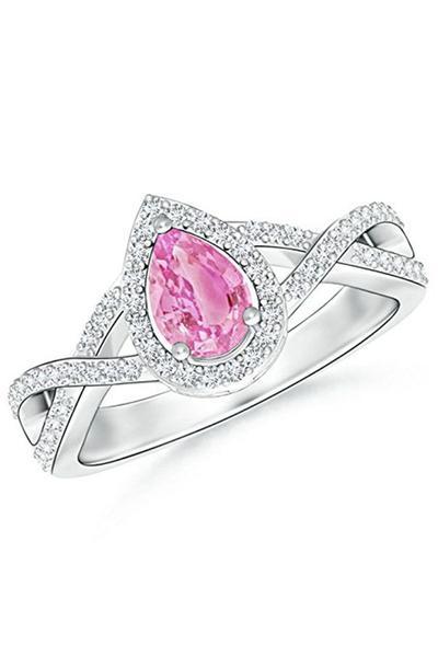3. Cincin Safir Merah Muda