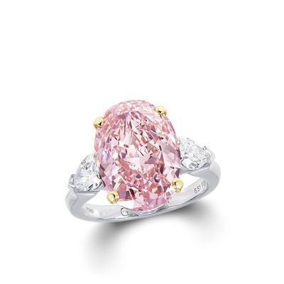 7. Mata Cincin Berlian Warna Merah Muda