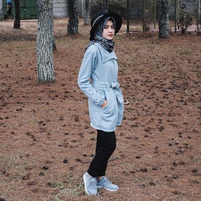 Memakai Hijab Segiempat