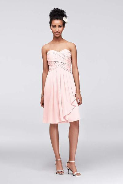 6. Pakaian Bridesmaid Stylish Knee-Lenghth or Tea Length