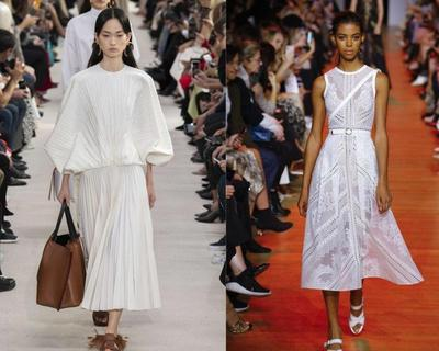 Tren Busana White On White di Paris Fashion Week SS 2019