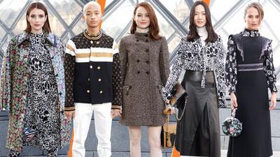 Adu Gaya Penampilan Selebriti di Louis Vuitton Fall/Winter 2019 Show Live, Siapa yang Terbaik?