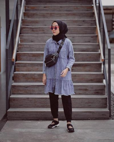 Tunik Denim Kekinian