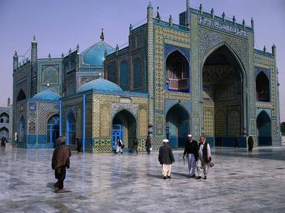 Masjid Biru Mazar-i-Sharif di Agfhanistan