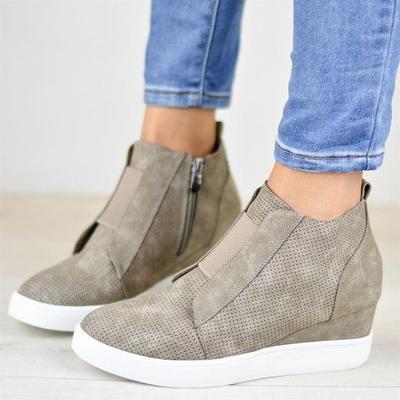 Zipper Sneakers Wedges