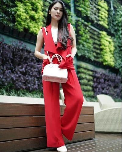 Long Vest Merah