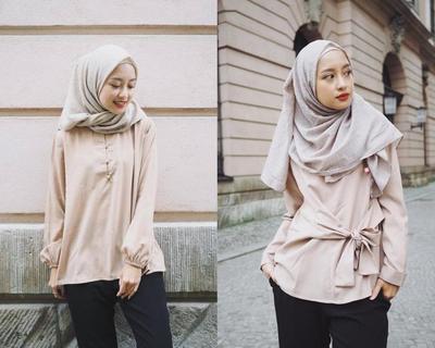 Anti Ribet, Padupadan Style  Hijab Casual ke Kampus Hits ala Selebgram