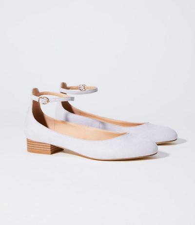 LOFT Ankle Strap Block Heel Flats