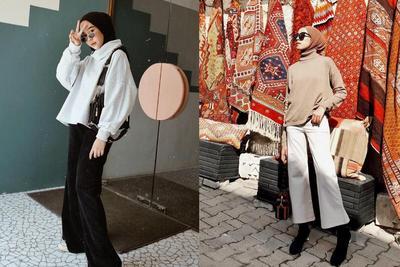 Jangan Ditutupi Hijab, Begini Cara Pakai Tutrtleneck untuk Hijabers agar Tetap Terlihat Stylish