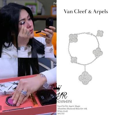 Van Cleef & Arpels Magic Alhambra Diamond Bracelet 18K White Gold