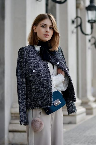Tren Jaket Tweed untuk Perempuan