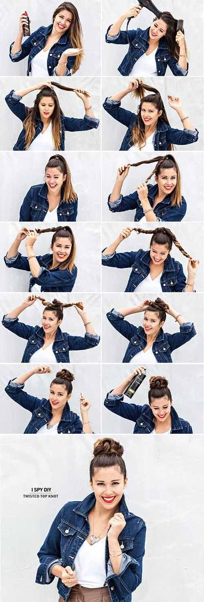Messy Twisted Top Knot