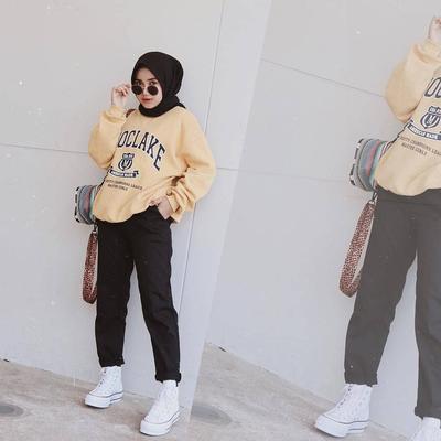 Celana Chino Mix Oversize Sweater untuk Si Tomboy