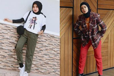 6 Inspirasi Mix and Match Celana Chino Hijabers Anti Ribet, dari Casual Sampai Formal