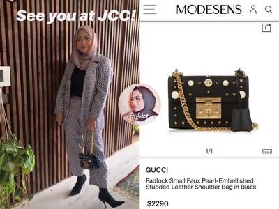 Gucci Padlock Small Studded Shoulder Bag