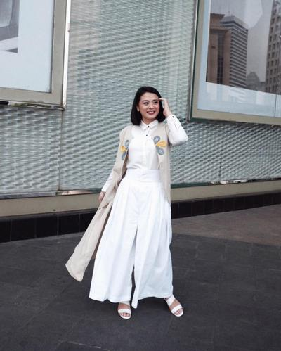 White Culottes with Long Outer
