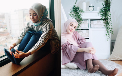 Good Looking! 5 Style Kekinian OOTD Hijab dengan Legging Wudhu ala Influencer