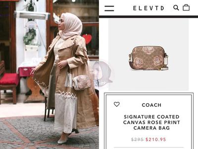 Coach Signature Coated Canvas Rose Print Bag