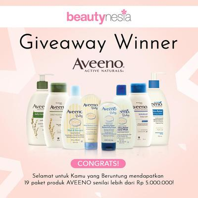 [FORUM] 19 Winner Giveaway Aveeno, Intip Disini Ladies!