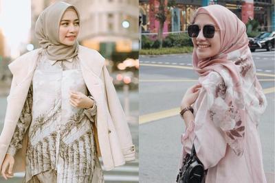 Gak Ribet! Celana Kulot, Jeans dan Rok Jadi Andalan Liburan Modis Hijabers Mega Iskanti