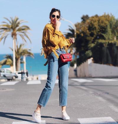 Fringe Jacket with Blue Jeans