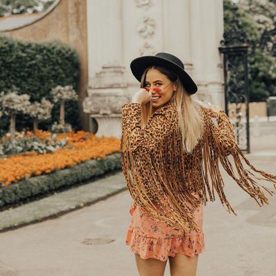 Fringe Jacket with Mini Dress