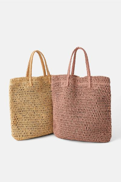 Braided Paper Tote Bag