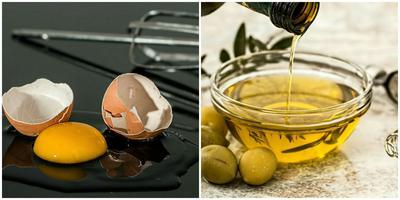 Putih Telur dan Olive Oil untuk Rambut Kering