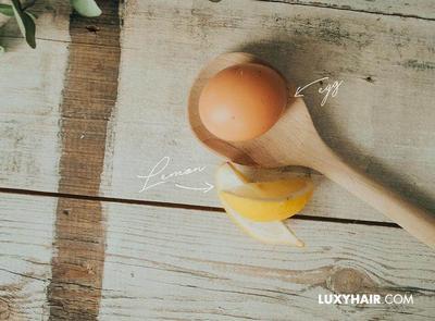 Putih Telur dan Lemon untuk Rambut Berminyak