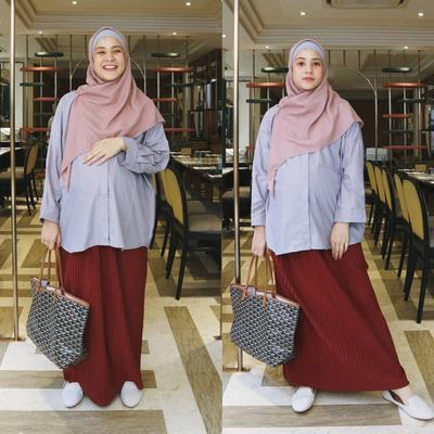 5 Maternity Outfit Kece ala Hijabers, Tetap Stylish Saat Hamil