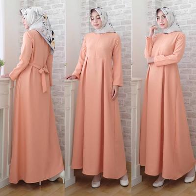 Gamis Dipadukan dengan Hijab Printing