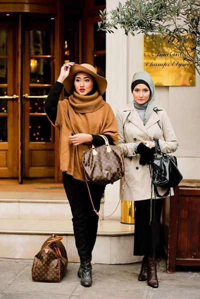 Seperti Ini Caranya Tampil dengan Parisian Style untuk Hijabers