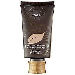 5.Tarte Amazonian Clay 12-Hour Full Coverage Foundation SPF 15