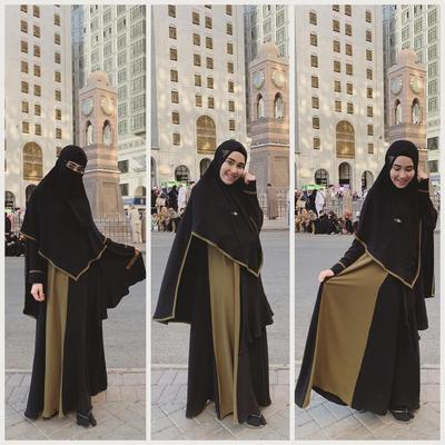 FOTO: Penampilan Ayu Ting Ting Berhijab Syar'i Saat Umroh, Bikin Adem!