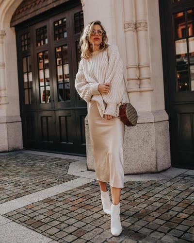 Slip Dress dengan Sweaters