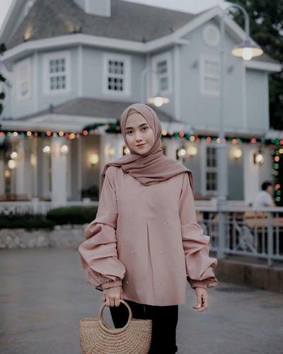 Hijab untuk Pesta Bahan Sifon