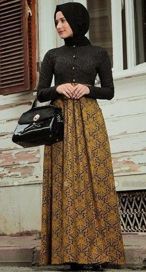 Gamis Brokat Kombinasi Batik